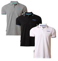 Sonneti Casual Cotton Polo Piqué T-shirt Retro Top New Black White Grey