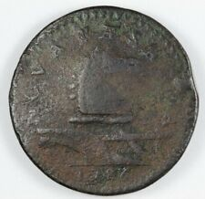 """1786 New Jersey """"Protruding Tongue"""" Colonial Copper - Marris 16-L W-4840 R.2"""