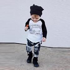2pcs Toddler Kids Baby Boy T-shirt Tops+Pants Trousers Outfits Clothing Set 2T