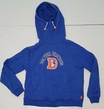 Nike Women's NFL Denver Broncos Funnel Neck Hoodie Sweatshirt Throwback D Logo L