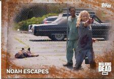 Walking Dead Season 5 Rust Parallel Base Card #24 NOAH ESCAPES