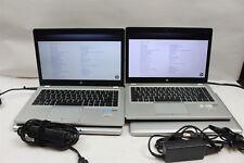 """Lot of 4 HP EliteBook Folio 9470M 14"""" HD+ DC i5-3437U 1.9GHz 4GB 0-500GB HDD"""