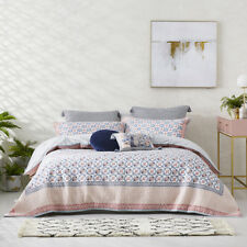 MERCER + REID QUILTED QUEEN BED QUILT COVER & 2 PILLOWCASES + 2 EUROPEANS SET