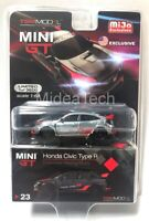 Mini GT 1/64 2017 Honda Civic Type R (FK8) Customer Racing Chase Car MGT00023