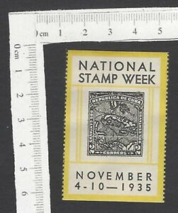 National Stamp Week 1935 MAP poster stamp MH