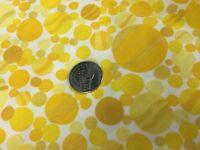 1 Yard Fabric Yellow and White Polka Dots