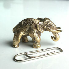 Miniature Figurine Brass Elephant  Animal Metalwork #12