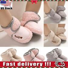 Newborn Baby Shoes Girl & Boy Anti-Slip Warm Cotton Boots Booties Soft Prewalker