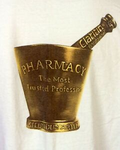vintage 90s Claritin Drugs Promo T-Shirt Pharmacy America's Most Trusted Pros XL