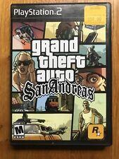 GTA Grand Theft Auto San Andreas PS2 Playstation 2 Good Condition No Manual