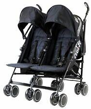 Zeta City Black Twin Double Baby Toddler Stroller Buggy inc Raincover