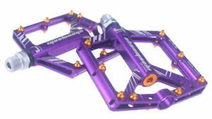 Durable Al alloy MTB Road Bike Pedals 9/16'' 4Sealed Bearing Platform Flat Pedal