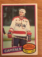 1980 - 81 O Pee CHEE OPC Mike Gartner # 195 RC Rookie Card Washington Capitals