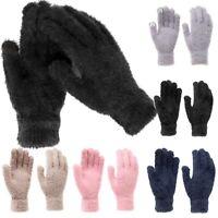 Fuzzy Soft Womens Fuzzy Winter Touchscreen Gloves