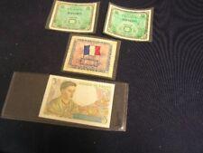 France Notes -   (Two) 1944 2 Francs, 1943 5 Francs, 1944 10 Francs     (lot 8)