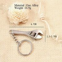 New Mini Key Chain Ring Keyring Creative Adjustable Metal Tool Wrench Spanner