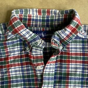 Vintage Ralph Lauren Polo The Big Shirt Plaid Long Sleeve Sz XL 100% Cotton
