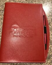 Carnival Players Club Premier Cruise Red Journal Notebook and Pen Set - New!