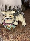 Vintage Chinese  Carved  Foo Fu Dog / Lion Figurine. Looks Great Condition.
