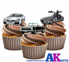 precortado Mercedes Benz Coche Mix 12 Toppers Comestibles Cupcake Decoración