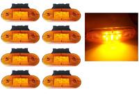 Set 8 Luci Ingombro 12V 9 LED Segnalatore Arancio & Staffe Perimetrale Van Bus