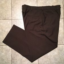 HAGGAR * Mens Brown Casual Pants * Size 40 x 30 * EXCELLENT