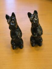 PR Rare Vintage Black Scottie Scottish Terrier Dogs Salt & Pepper Shakers Japan