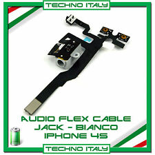 Per IPHONE 4S CAVO FLAT FLEX CONNETTORE JACK AUDIO TASTO VOLUME MUTE BIANCO