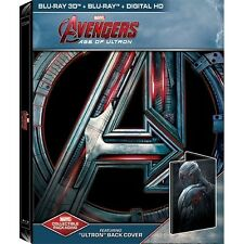 Avengers: Age of Ultron SteelBook - Ultron BACK Cover [BR3D + Blu-ray + Digital]
