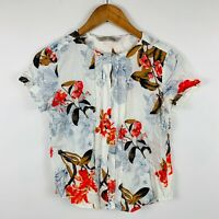 Arienti Womens Top Size 8 Slim Fit Floral Multicoloured Short Sleeve Gorgeous