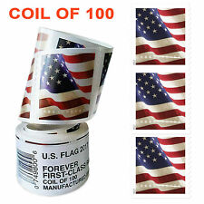 American 2017 USPS Forever Flag Postage Stamp Coil of 100 stamps - Free Shipping