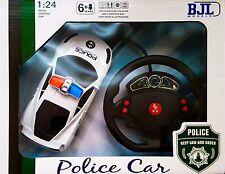 RC Coche De Radio Control Remoto De Policía Escala 1:24 Con LED-Racing Modelo-Ideal Regalo