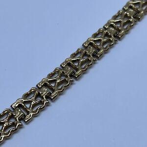 "9ct Yellow Gold Bracelet 7"" Long 8.4g"