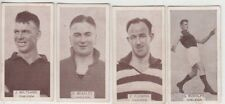 Oakleigh Football Club 1933 W D & H O Wills group of 4 cigarette cards, popular