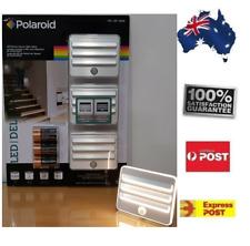 3 X Polaroid Motion Sensor LED Wall Stairs Recessed Light AA Night Safe Lights