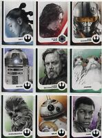 Star Wars Journey To The Last Jedi Complete Darkness Rises Chase Card Set #1-6