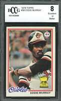 1978 topps #36 EDDIE MURRAY baltimore orioles rookie card BGS BCCG 8
