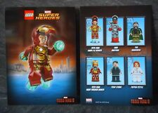 Lego Super Heroes Iron Man mini-figure two Double Sided Postcards