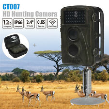 1080P HD 12MP Hunting Scouting Trail Camera Game Wildlife+Bag Motion Detect