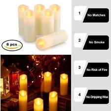 6er Warmweiß LED Kerzen Teelichter Flammenlos Flackerkerze Kerzenset Batterien