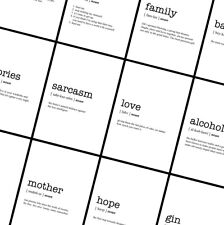WORD DEFINITION Prints - Typography Funny Posters - A4 A3 A2 - Home Wall Art