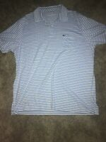 Mens Vineyard Vines Polo Shirt sz Large Light Blue With White Stripes