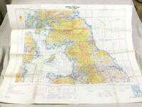 1973 Militare Map Del Nord Inghilterra Raf Pilota Volo Aeronautico Icao Carta