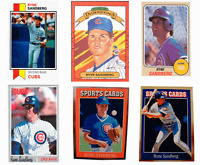 (6) Ryne Sandberg Odd-Ball Trading Card Lot