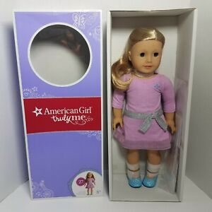 American Girl Doll New In Box Truly Me 27 Blond Hair Brown Eyes Meet Outfit