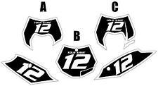 2011-2012 KTM 350SX-F Custom Pre-Printed Black Backgrounds White Bold Pinstripe