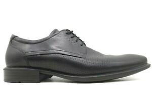 Ecco Black Leather Lace Up Dress Oxfords Shoes Men's 42 / 11 - 11.5