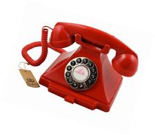 GPO 1920s Classic Carrington Push Button Telephone - Red