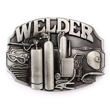 Vintage Welder Belt Buckle Western Cowboy Native American Motorcyclist (WDR-01)