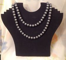 FCUK NECKLACE~RRP £18~LONG LENGTH NECKLACE MERCURY SILVER BEADS JEWELLERY BNWT